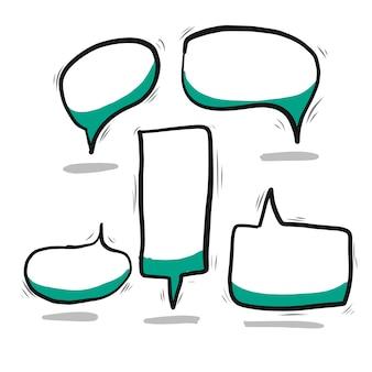 Vetor de bolha de discurso doodle