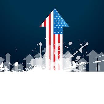 Vetor design da flecha da bandeira americana