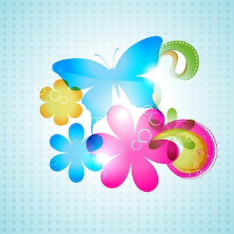 Vetor design de fundo colorido borboleta