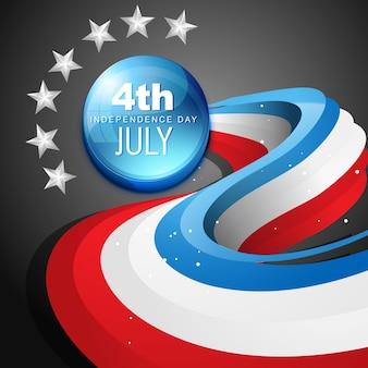 Vetor elegante 4 de julho dia americano da independência