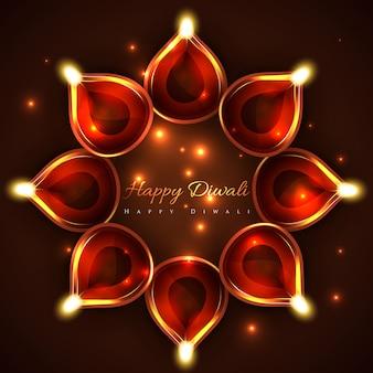 Vetor feliz fundo de diwali