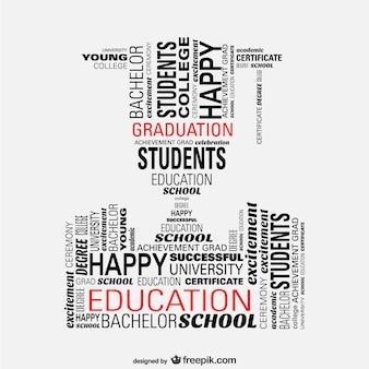 Vetor graduação estudante conceito ilustração