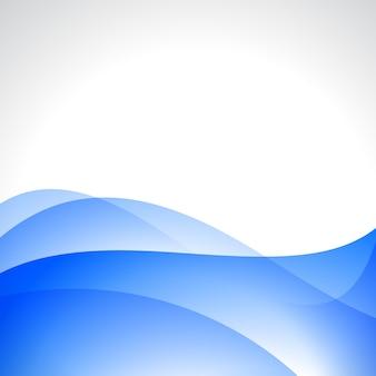 Vetor onda de cor azul bonito