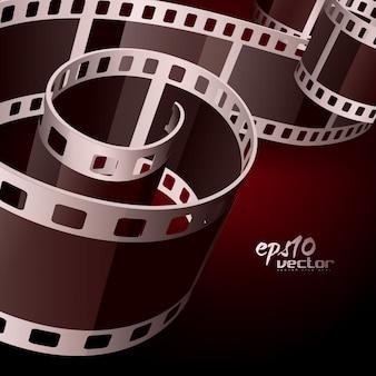 Vetor realista 3d filme bobina