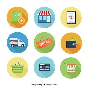 vetores de compras
