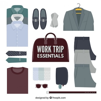 Viagem de trabalho indispensáveis