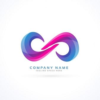 Vibrante logotipo infinito criativo