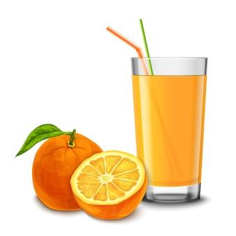 Vidro de suco de laranja