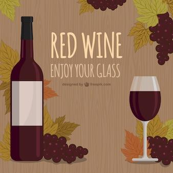 Vinho tinto, desfrutar do seu copo