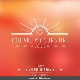Você é minha luz do sol cartão