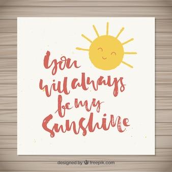 Você sempre será meu lettering luz do sol