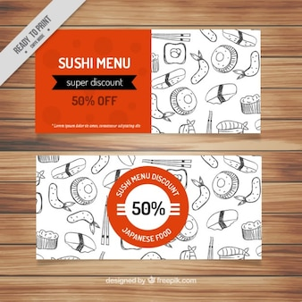Voucher para comida japonesa