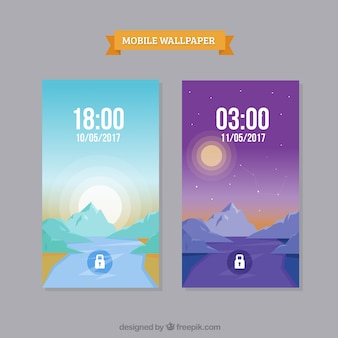 Wallpapers paisagísticos para screenshots móveis