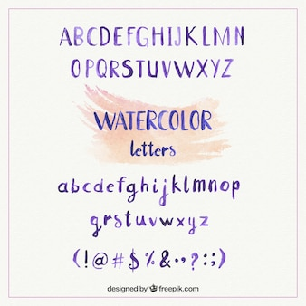 Watercolo alfabeto