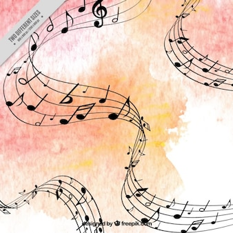 Watercolor background musical