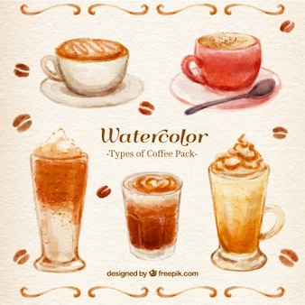 Watercolor Coffee Pacote
