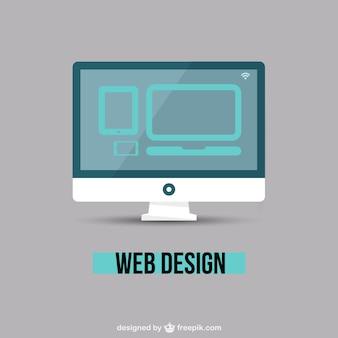 Web design minimalista vetor