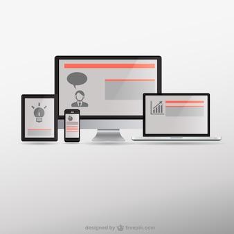 Web design responsivo dispositivos eletrônicos