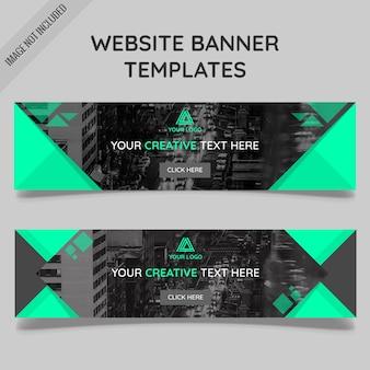 Website Banner Modelos com formas poligonais