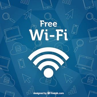 Wifi fundo com esboços
