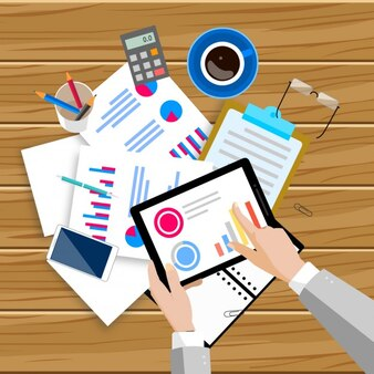 Workspace cheia de documentos