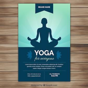 Yoga silhueta panfleto