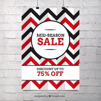 Zig-zag cartaz linhas vendas
