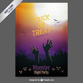 Zombie cartaz para o dia das bruxas