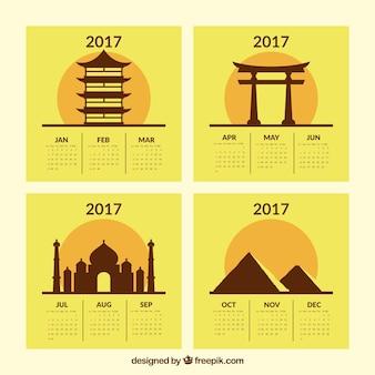 2017 del calendario di monumenti