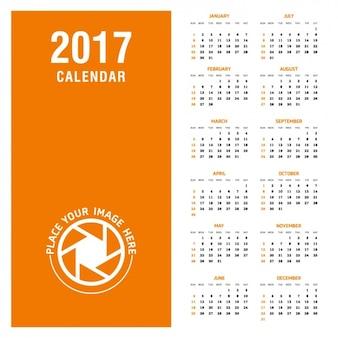 2017 design del calendario