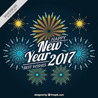 2017 fuochi d'artificio decorativi sfondo in stile vintage