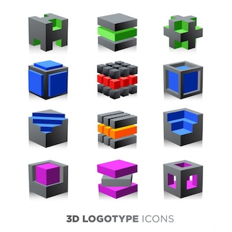 3d set cubo Logotype