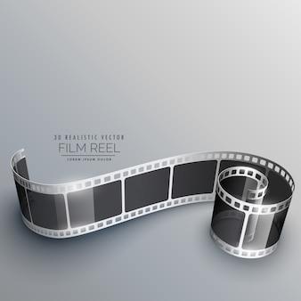 3d telecamera pellicola striscia sfondo vettoriale