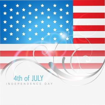 4 luglio luglio americano indipendenza vettoriale di giorno