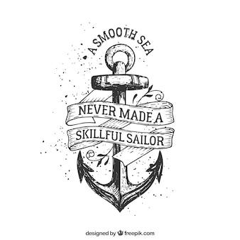 A mano distintivo di ancoraggio