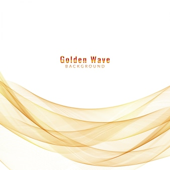 Abstract background onda d'oro