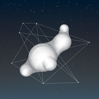 Abstract design forma arrotondata