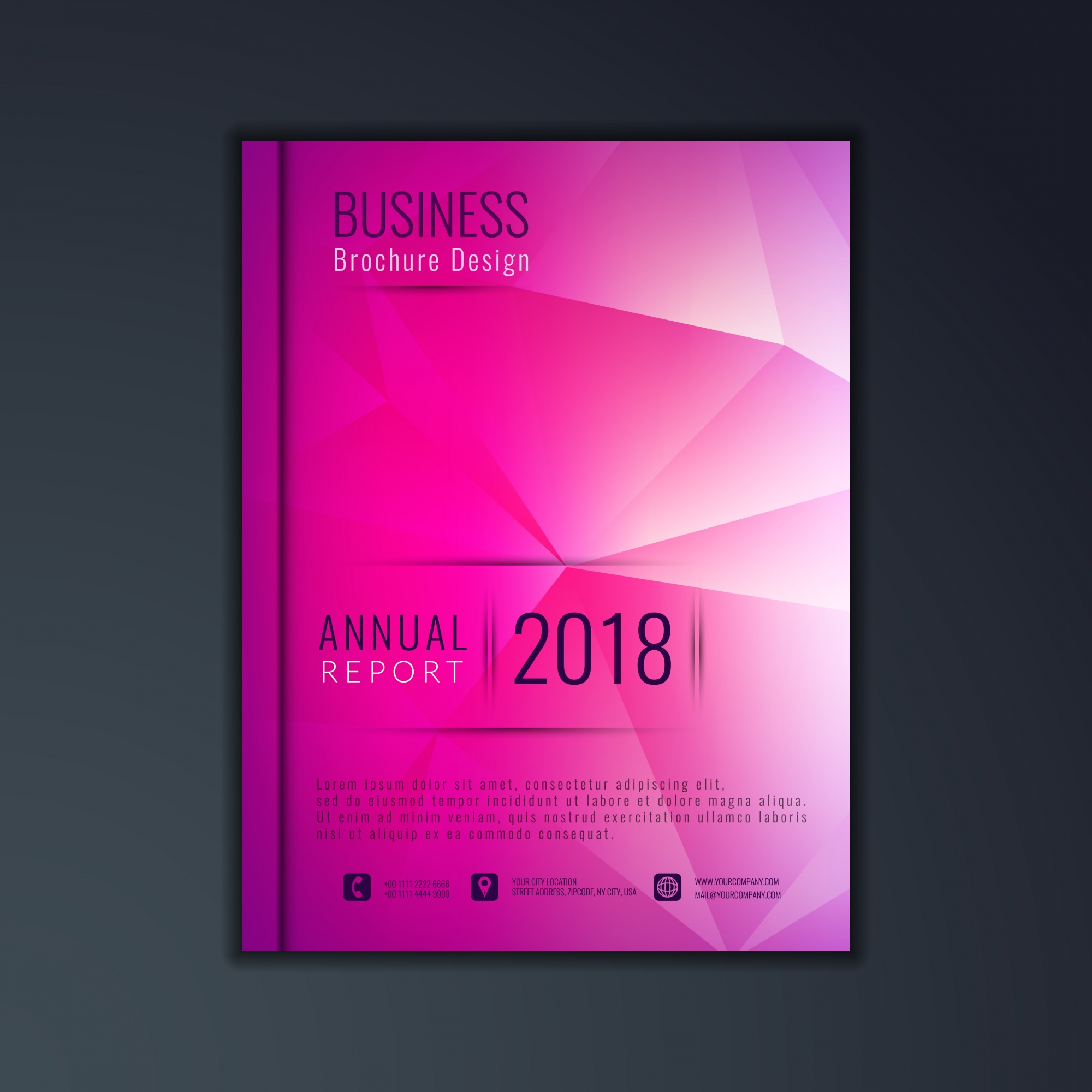 Abstract design moderno business brochure