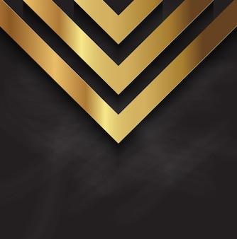 Abstract design oro metallizzato su una texture lavagna
