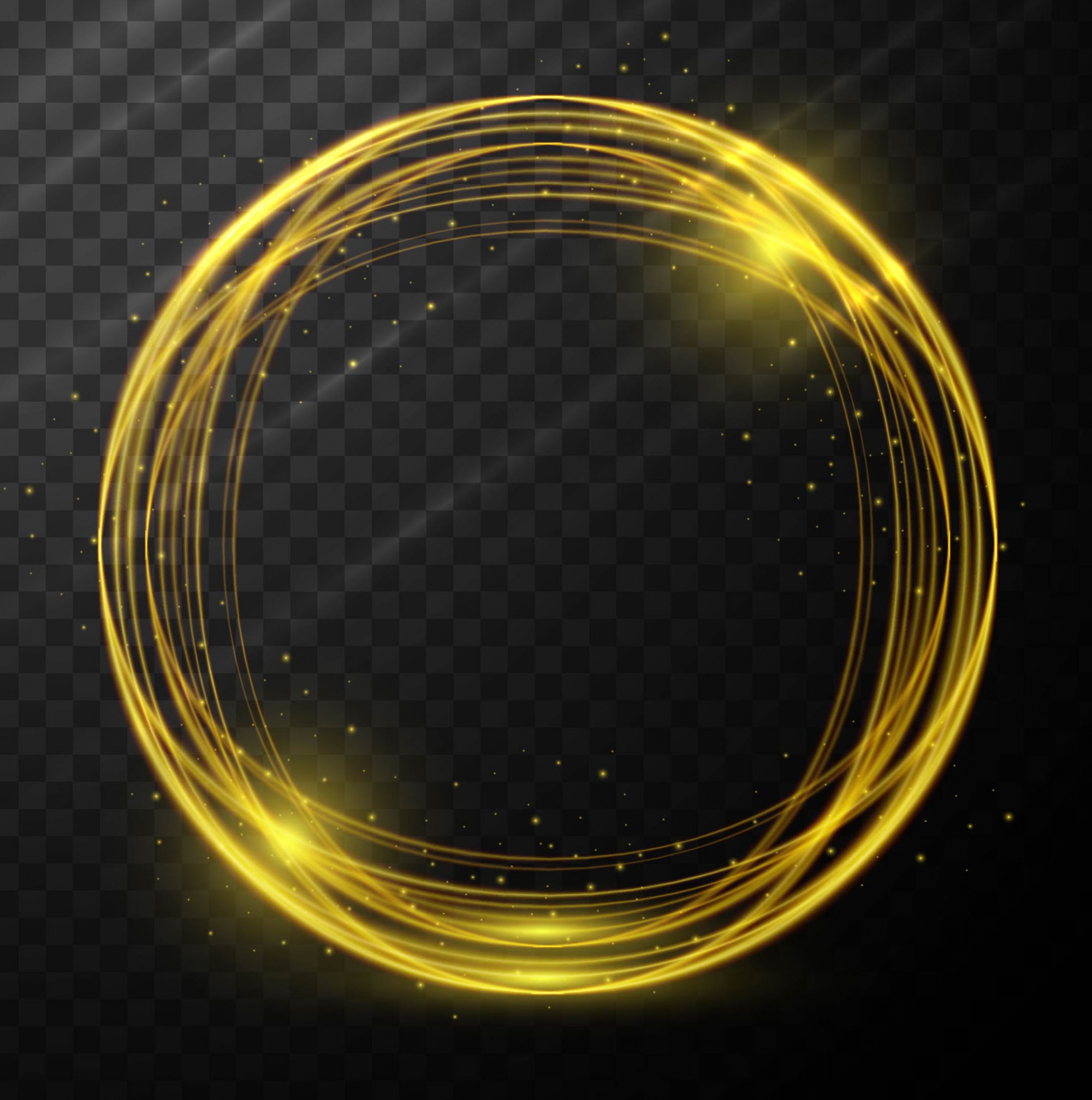 Abstract glowing circle background