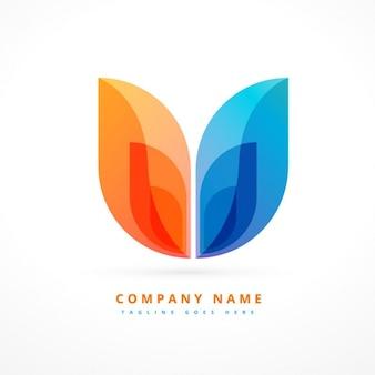 Abstract logo design colorato