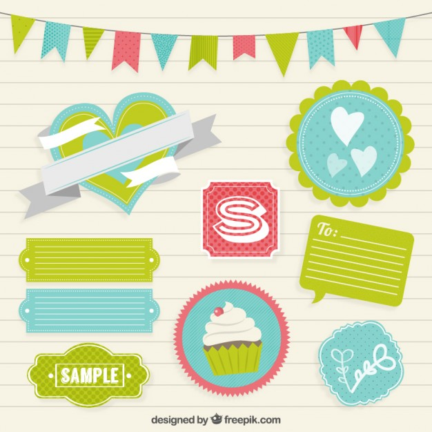 Accessori decorativi per scrapbooking