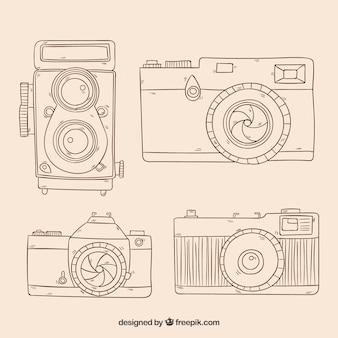 Accumulazione di fotocamere fotografiche