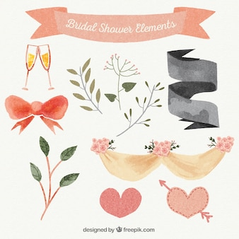 Acquerello di nozze ornamento raccolta