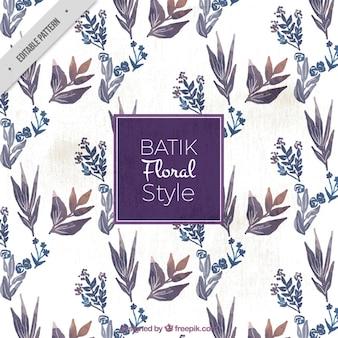 Acquerello modello batik floreale