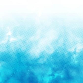 Acquerello sfondo blu