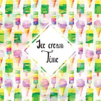Acquerello Sfondo di gelato