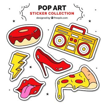 Adesivi ad arte pop con stile divertente