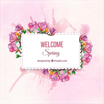 Adesivo acquerello Fiore di primavera