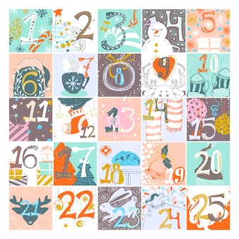 Advent design del calendario